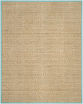 Safavieh Natural Fiber NF114R Natural and Teal