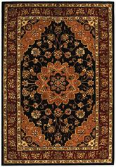 Safavieh Traditions TD610B Black and Burgundy