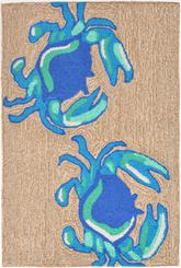 Trans Ocean Frontporch Crabs Blue 1404/03
