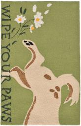 Trans Ocean Frontporch Wipe Your Paws Green 1522/06