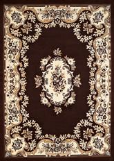 United Weavers Cafe Classic Aubusson Dark Brown