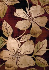 United Weavers Contours Floral Canvas Burgundy