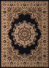 United Weavers Dallas  Floral Kirman Black