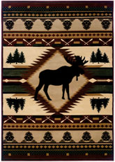 United Weavers Contours Jq Moose Wilderness Multi
