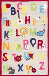 nuLOOM Hand Tufted Animal Alphabet SEKD05